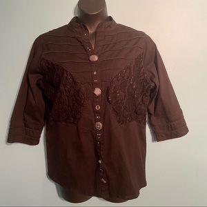 Parsley & Sage black embellished jacket